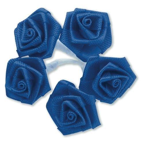 Royal Blue Ribbon Roses/Medium - dia. 20mm - packed in 144's