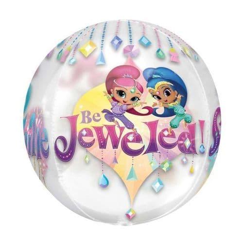 """Shimmer & Shine Orbz Foil Balloons 15"""" x 16"""""""