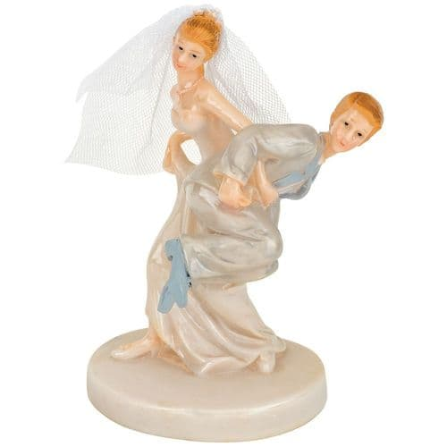 Shiny Resin Bride Carrying Groom