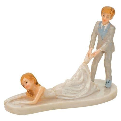 Shiny Resin Groom Dragging Bride