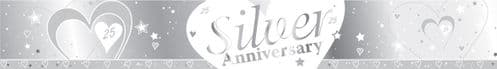 Silver 25th Anniversary Foil Banner 9ft