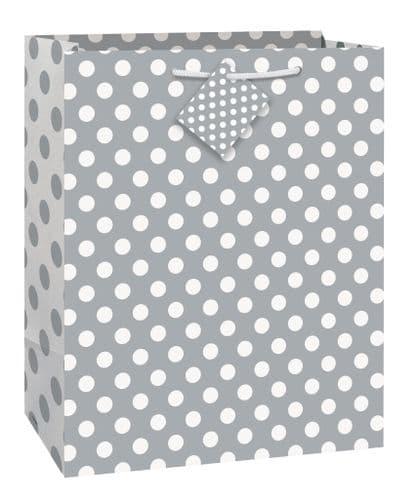 Silver Dots Giftbag-Large