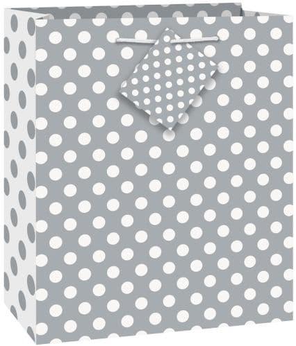 Silver Dots Giftbag-Medium