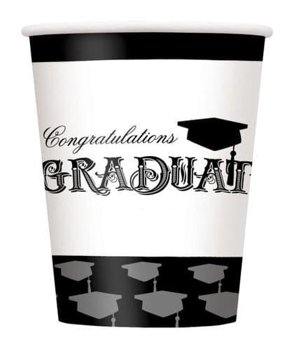 Simply Graduation 9oz Cups 8's