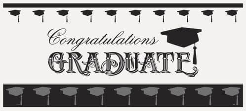 """Simply Graduation Giant Wall Banner 60X27"""""""