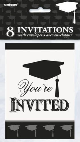 Simply Graduation Invitations 8's