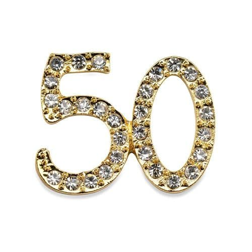 Small Gold Diamante Number  50