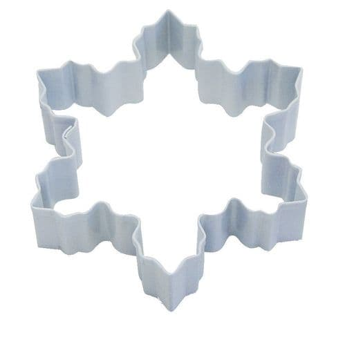 Snowflake Poly-Resin Coated Cookie Cutter White Large