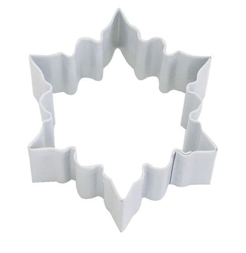 Snowflake Poly-Resin Coated Cookie Cutter White Small