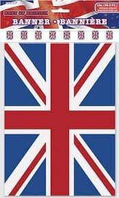 SOLD OUT 12ft Plastic Union Jack Bunting - VE DAY
