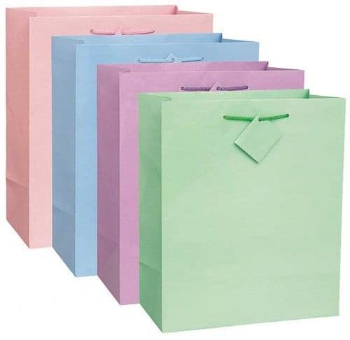 Solid Pastel Giftbag Assorted-Large