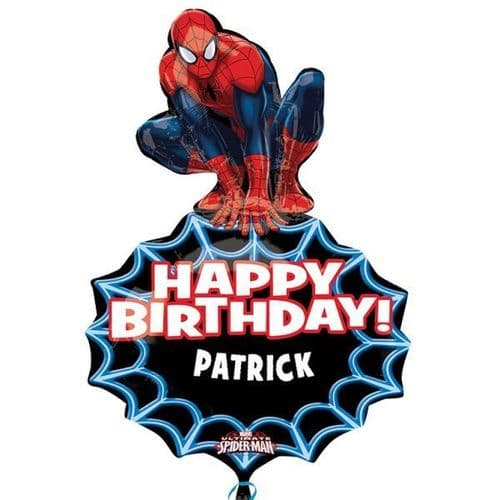 """Spider-Man Personalised SuperShape Foil Balloons  23"""" x 33"""""""