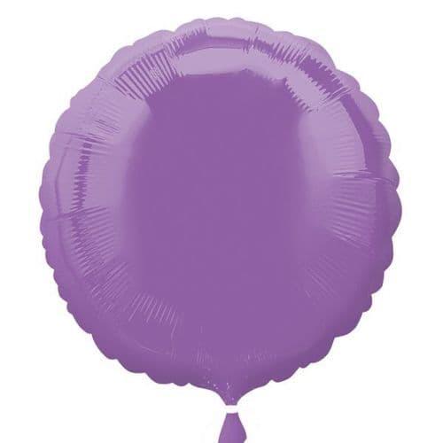 Spring Lilac Circle Foil Balloon