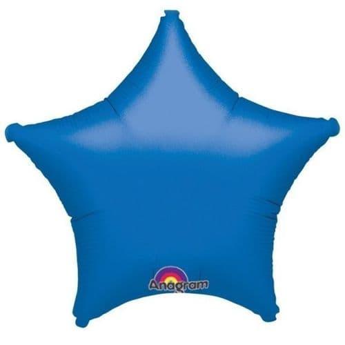 Star Blue Foil Balloon