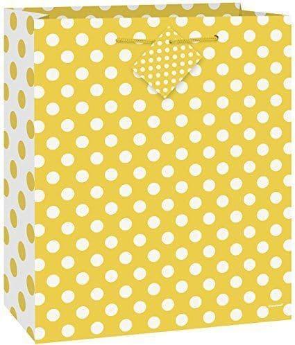 Sunflower Yellow Dots Giftbag-Medium