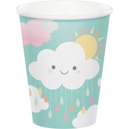 Sunshine Baby Shower 8 x 256ml Paper Cups