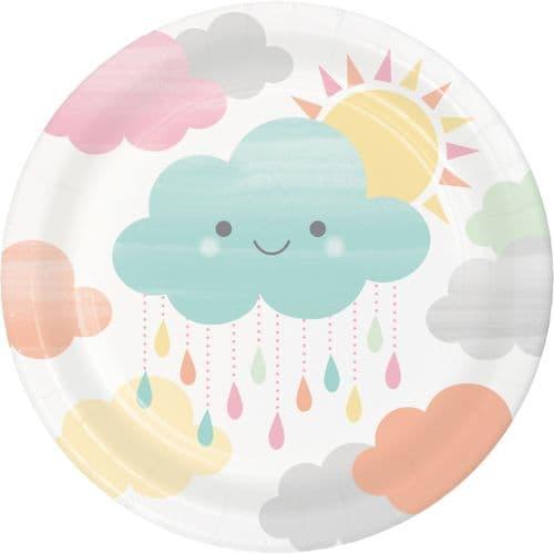 "Sunshine Baby Shower 8 x 7"" Lunch Plates"