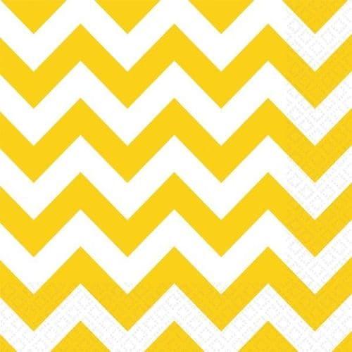 Sunshine Yellow Chevron Luncheon Napkins 33cm/2