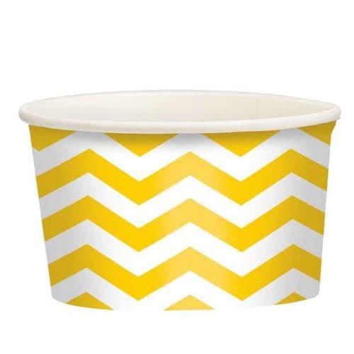 Sunshine Yellow Chevron Treat Cups 20 per pack.