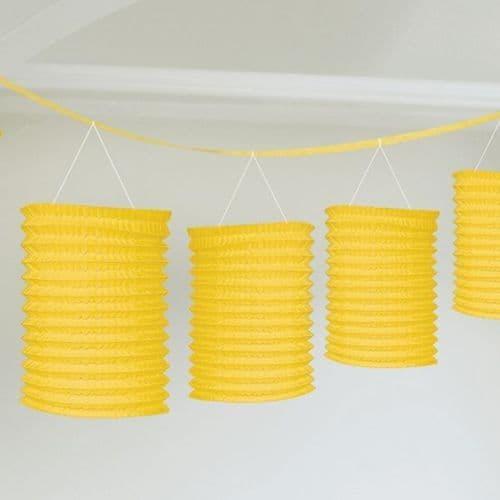 Sunshine Yellow Lantern Garland