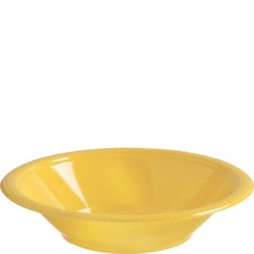 Sunshine Yellow Plastic Bowls 355ml 20 per pack.