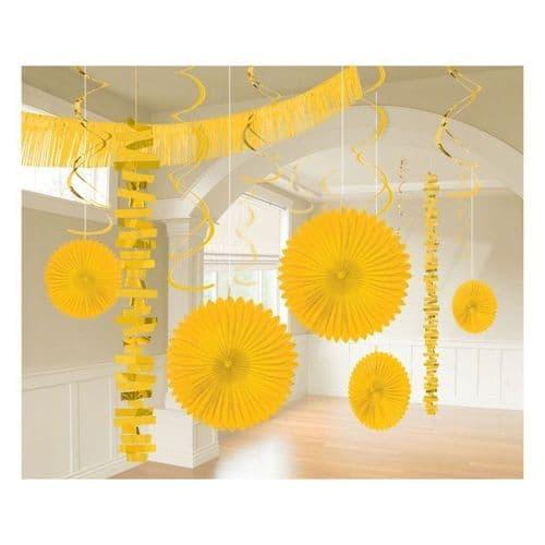 Sunshine Yellow Room Decoration Kit/18