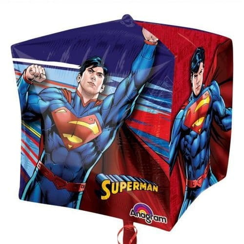 "Superman Cubez Foil Balloons 15"""