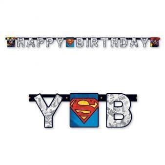Superman Happy Birthday Banners