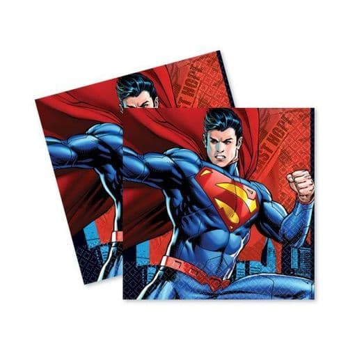 Superman Luncheon Napkins 33cm /16