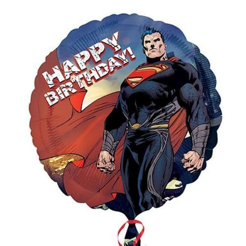 Superman Man of Steel Happy Birthday Standard Foil Balloons