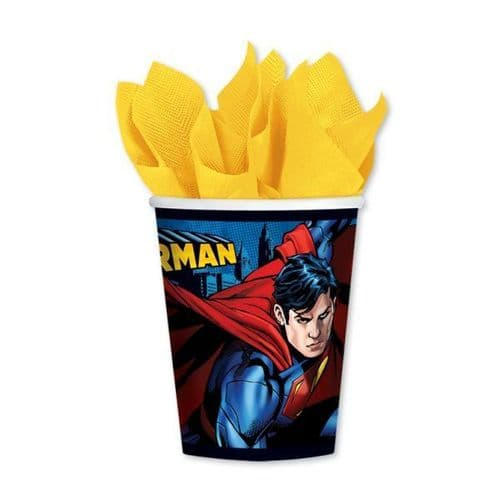 Superman Paper Cups 266ml 8's