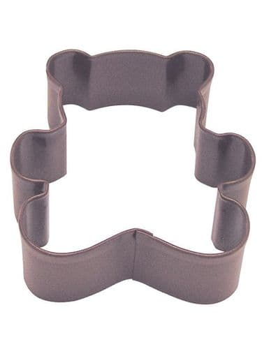Teddy Bear Poly-Resin Coated Cookie Cutter Brown