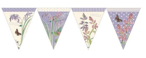 The Country Diary of an Edwardian Lady Paper Flag Bunting 12ft