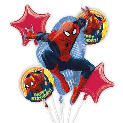 Ultimate Spider-Man Birthday Bouquets Foil Balloons