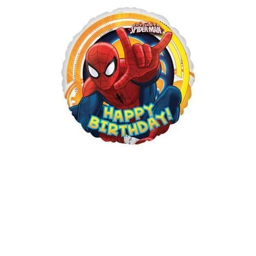 Ultimate Spider-Man Circle Happy Birthday Foil Balloons