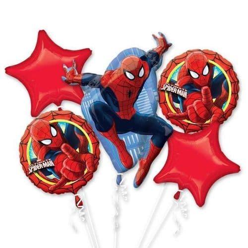 Ultimate Spiderman Foil Bouquet Balloons