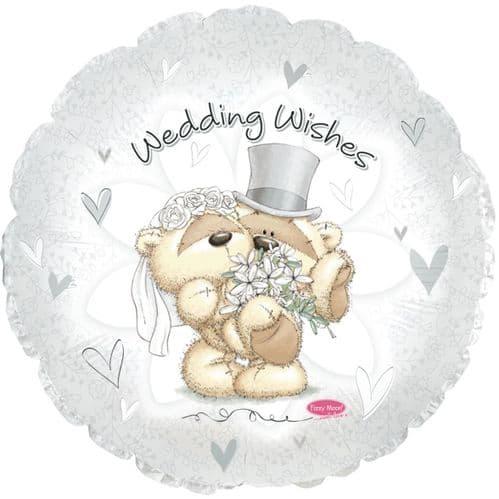 Wedding Wishes Fizzy Moon Foil Balloon