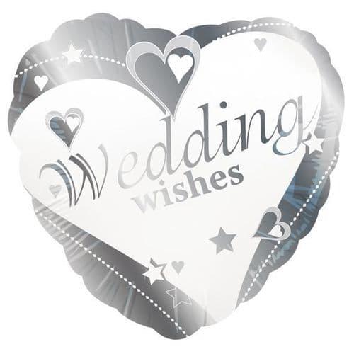 Wedding Wishes Foil Balloon