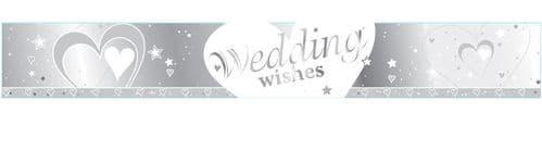 Wedding Wishes Foil Banner 9ft