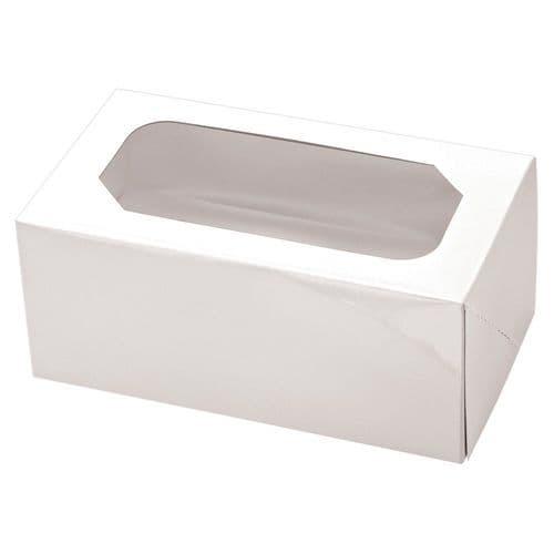 White Muffin /Cupcake Box + Insert  (holds 2 Cakes) - pack of 2