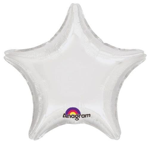 White Star Foil Balloon