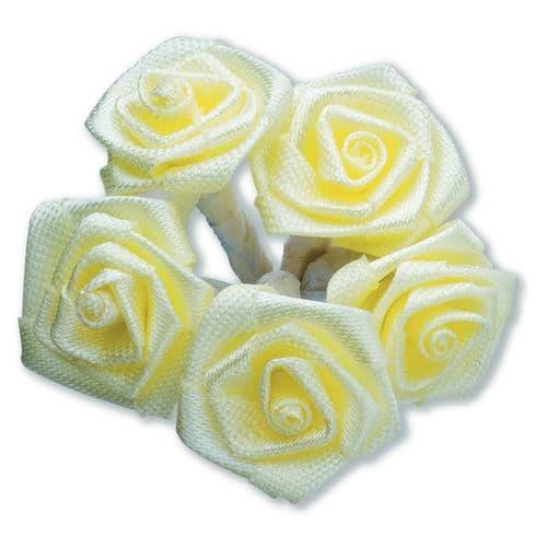 Yellow Ribbon Roses/Medium - dia. 20mm - packed in 144's