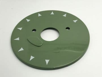 GPO Aircraft Green Chevron Telephone Dial Back Plate
