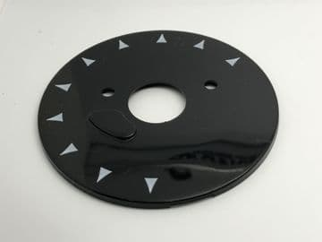 GPO Black Chevron Telephone Dial Back Plate