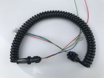 GPO Black Telephone Handset Cable