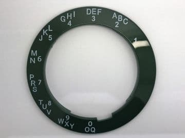 GPO Forest Green A-B-C Telephone Dial Surround