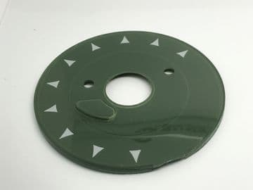 GPO Forest Green Chevron Telephone Dial Back Plate
