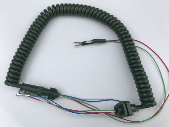 GPO Green Telephone Handset Cable