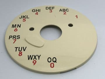 GPO Ivory A-B-C Telephone Dial Back Plate