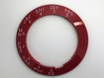 GPO Lacquer Red A-B-C Telephone Dial Surround